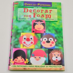 Revista Decorar con Foam Caretas, viseras, animales, pizarras...