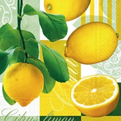 Servilleta Fresh Yellow 33x33cm por Unidad
