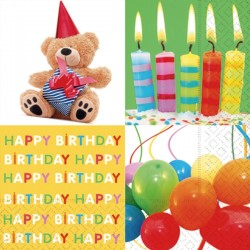 Servilleta Birthday Surprise 33x33cm por Unidad