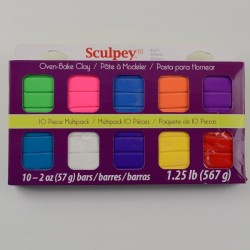 Sculpey III Kit de 10 Pastillas Brillantes S3MP0500-1