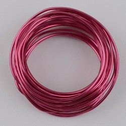 Alambre de aluminio color Fucsia 1,5mm. de grosor x 3 mts.