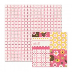 "Papel Doble Cara - ""Baby Pink"""
