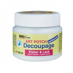 ART potch Decoupage pegamento y pintura mate 150ml 48251