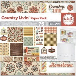 Pack 75 piezas Scrapbooking - Country Living