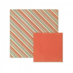 "Papel Doble Cara - ""Patriotic Stripes"""