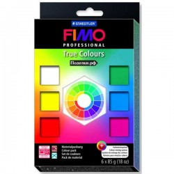 Pack de 6 Colores Fimo Professional - True Colours