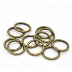 Anillas Redondas Bronce Antiguo 10x8mm 100uds