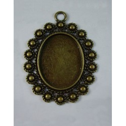 Base Redonda Bronce Antiguo Circulos 24x31mm 2uds