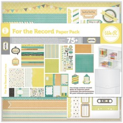 Pack 75 Piezas Scrapbooking - For the Record