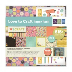 Pack 75 Piezas Scrapbooking - Love to Craft