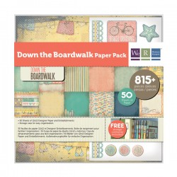 Pack 75 Piezas Scrapbooking - Down The Boardwalk