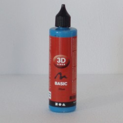 Pintura Relieve Line 3D Basico -Azul- 100 ml