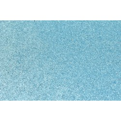 Goma Eva Glitter 60x40 2mm color Azul Claro