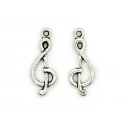 Dije Clave Musical 25x10mm 10 unidades