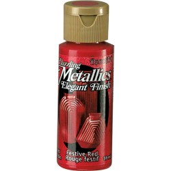 Pintura Metalizada Americana 59 ml. Festive Red DA262