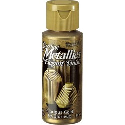 Pintura Metalizada Americana 59 ml. Glorious Gold DA071
