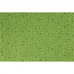 Goma Eva Decorada 1 Color 60x40 2mm Infantil 1 Verde