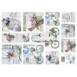 Papel Arroz dec. 031M - Bicycle 70x50mm
