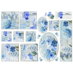 Papel Arroz dec. 032M - Blue Style 70x50mm