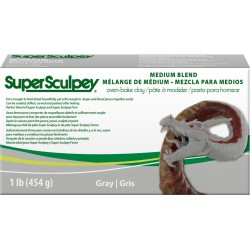 Super Sculpey Medium Bland Gris 454 gr
