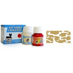Kit Hidro Craquele 80ml - Nº300 Oro Metal