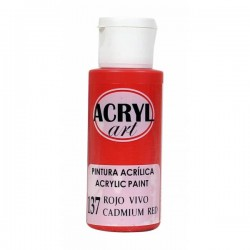 Pintura Acryl-Art 60ml - Rojo Vivo