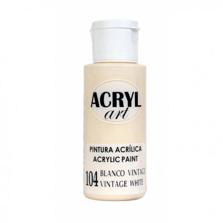 Pintura Acryl-Art 60ml - Blanco Vintage