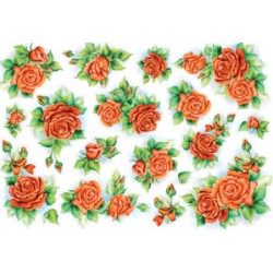 Papel Arroz dec. 206 - Rose Rosse-2 35x50mm
