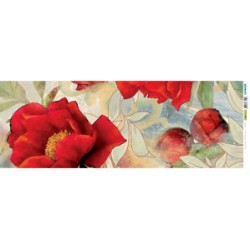Papel Arroz dec. 025P - Fant. di Peonie 1 25x70mm