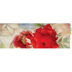 Papel Arroz dec. 026P - Fant. di Peonie 2 25x70mm