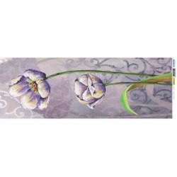 Papel Arroz dec. 027P - Tulipan Violeta 25x70mm