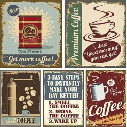 Papel de Sublimacion 30 x 30cm - Retro Coffee
