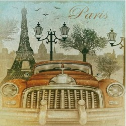 Papel de Sublimacion 30 x 30cm - Paris en Coche