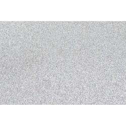 Goma Eva Glitter 60x40 2mm color Plata