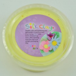Masa para modelar Silk Clay color Amarillo Pastel 40gr