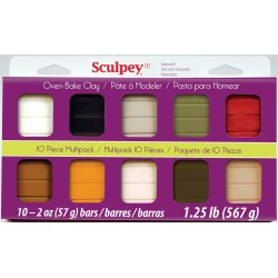 Sculpey III Kit de 10 Pastillas Naturales S3MP0300-1