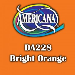 Pintura acrílica Americana 59 ml. Bright Orange DA228