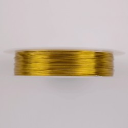 Hilo de aluminio color Oro 0.3 mm x 25m
