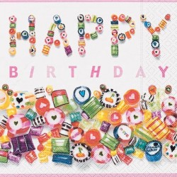 Servilleta Sweet Birthday 33x33cm