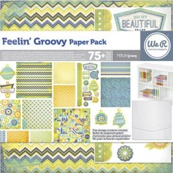 Pack 75 piezas Scrapbooking - Feelin Groovy