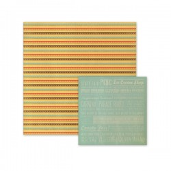 "Papel Doble Cara - ""Scallop Stripes"""