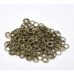 Anillas Redondas Bronce Antiguo 7x5mm 100uds