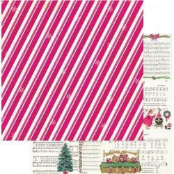 Papel Bobunny Candy Cane Lane - December 30.5 x 30.5 cm