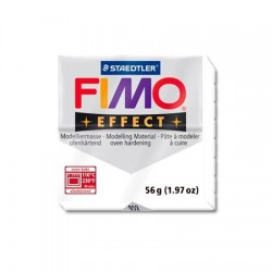 Fimo Effect 56gr Blanco Purpurina -052-