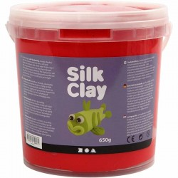 Silk Clay 650gr. - Rojo