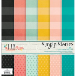 Kit 6 Papeles Simple Stories - I am... Basics kit
