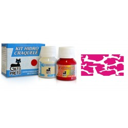 Kit Hidro Craquele 80ml - Nº316 Rosa Metalico