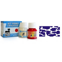 Kit Hidro Craquele 80ml - Nº312 Morado Metalico