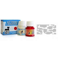 Kit Hidro Craquele 80ml - Nº301 Plata Metalico