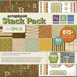 Pack 75 Piezas Scrapbooking - Hall Pass